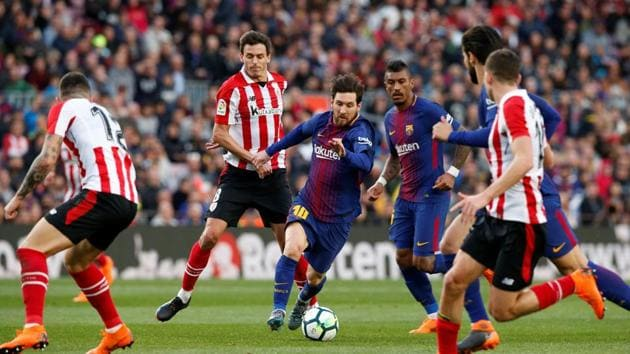 Lionel Messi leads Barcelona to 2-0 win over Athletic ...