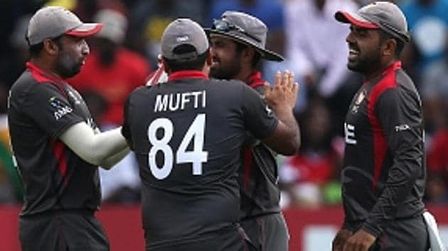 Get full cricket score of Zimbabwe vs UAE, ICC World Cup qualifiers 2018 Super Six, here. UAE defeated Zimbabwe in a thrilling encounter in Harare on Thursday.(Getty Images)