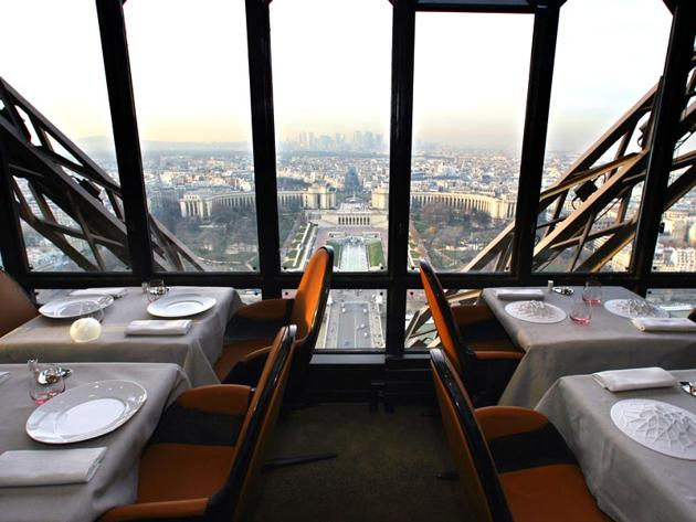 The Jules Verne restaurant in Paris. The cultural impact of the French writer, thanks to translations, goes much beyond a solely Francophone readership(AFP)