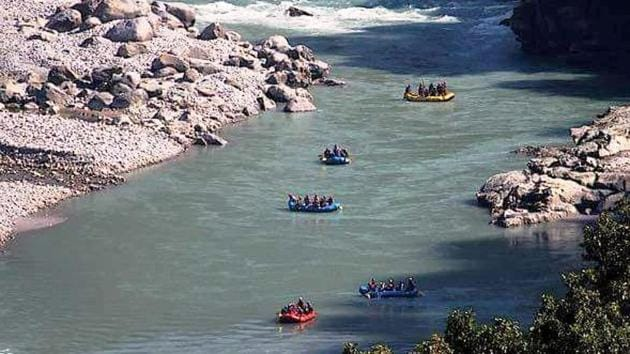 Kali river flows from Nepal and enters India through Pithoragarh district.(Courtesy: Facebook)