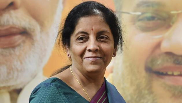Defence minister Nirmala Sitharaman during a press conference at BJP headquarters in New Delhi.(PTI File Photo)