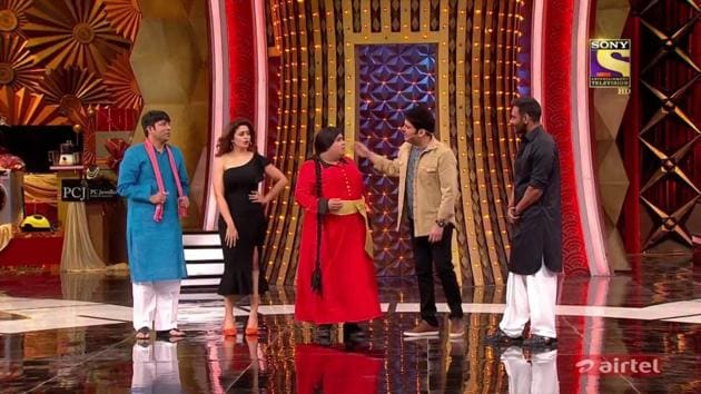 Kapil Sharma is back to the small screen in Family Time With Kapil and Ajay Devgn played his first guest.