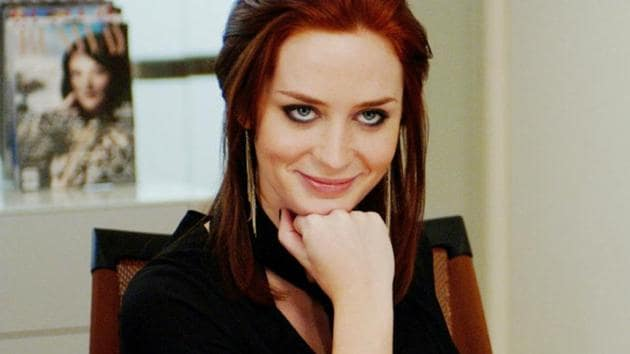 Emily Blunt as Emily in Devil Wears Prada.
