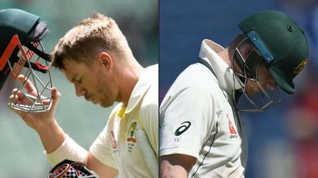 David Warner and Steve Smith were handed a one-year ban by Cricket Australia for their involvement in the ball-tampering fiasco during the Newlands Test against South Africa.(AFP)