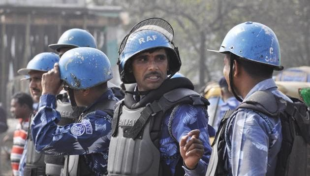 The Bihar government deployed paramilitary and Rapid Action Force personnel to tackle the unrest that broke out during this year's Ram Navami celebrations.(PTI File Photo)