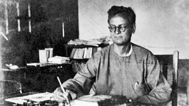 Rahul Sankrityayan in Calcutta, 1950. Sankrityayan was the father of the Hindi travelogue and a scholar who retrieved rare Buddhist texts from Tibet.(Courtesy/ Jaya Sankrityayan and IGNCA)