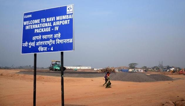 More than 3,000 PAPs live in the 10 villages that fall in the core Navi Mumbai airport project zone.(HT File Photo)