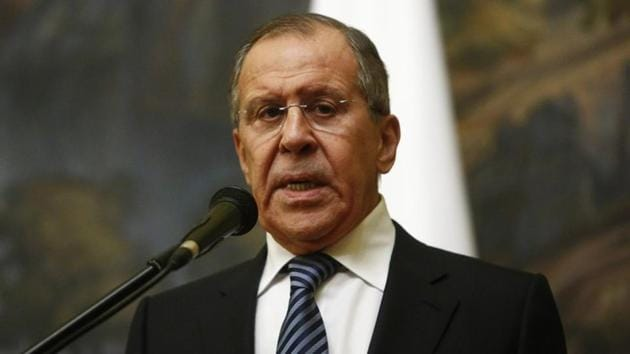 Russian foreign minister Sergei Lavrov.(REUTERS)