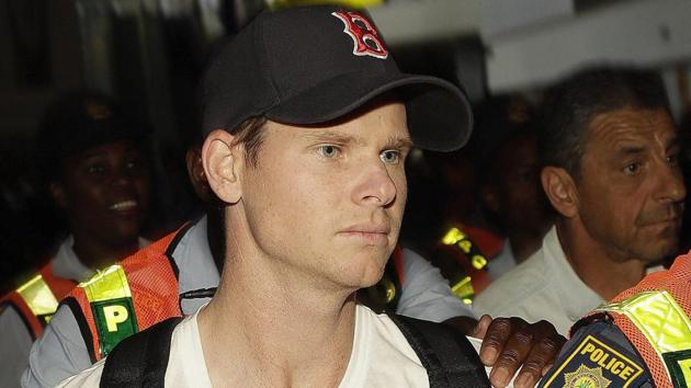 Steve Smith was handed a one-year ban by Cricket Australia for his involvement in the ball-tampering scandal.(AP)