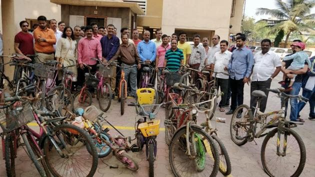An NGO collecting old bicycles that they plan to distribute in villages in Maharashtra. A growing number of organisations are focusing on solving society's challenging problems by working in a structured mode(Hindustan Times)