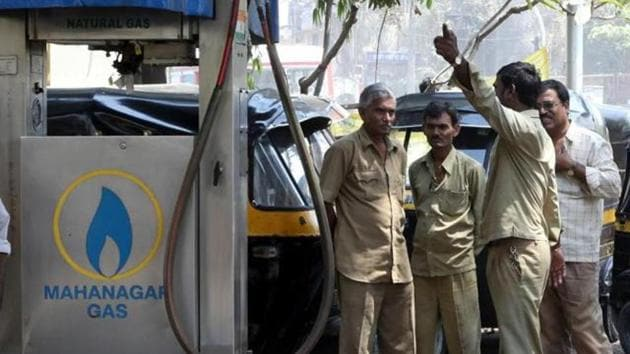 The price has been increased by Rs1.23 per kg for CNG and Rs1.04 per standard cubic metre (SCM) for PNG in Mumbai.(HT File)