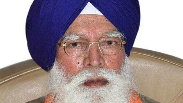 Former SGPC president Kirpal Singh Badungar(HT File)