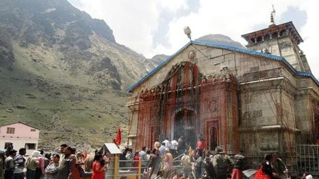 The six-month-long annual Chardham yatra that starts from April 18.(HT File)