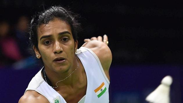 PV Sindhu settled for a bronze in the 2014 Commonwealth Games after losing in the semifinals to Canada's Michelle Li.(PTI)