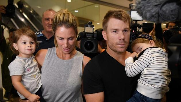 David Warner's wife Candice has said her husband is 'not in a great headspace' as the fallout continues from Australian cricket's ball-tampering scandal.(REUTERS)