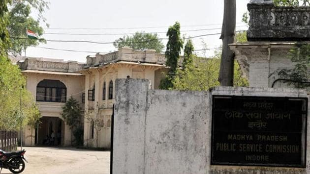 Madhya Pradesh Public Service Commission office in Indore.(HT File Photo)