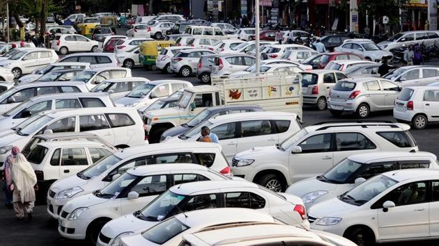 In the second hike since December last year, parking rates in the city have been doubled again.(HT File/Representative image)
