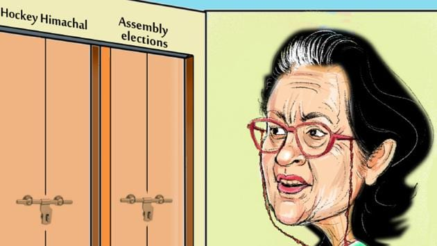 Vidya Stokes had an unceremonious exit from public life after her nomination papers got rejected during the recent state assembly elections due to a mix-up. Now, something similar has happened with her again(Illustration by Biswajit Debnath/HT)