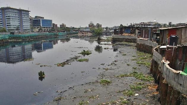 Mumbai's Mithi river is among the most polluted rivers in the state.(HT File Photo)