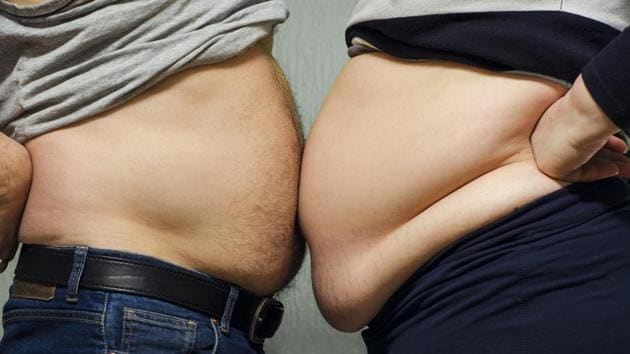 Abdominal obesity was defined as having a waist circumference of greater than 35 inches for women and 40 inches for men.(Shutterstock)