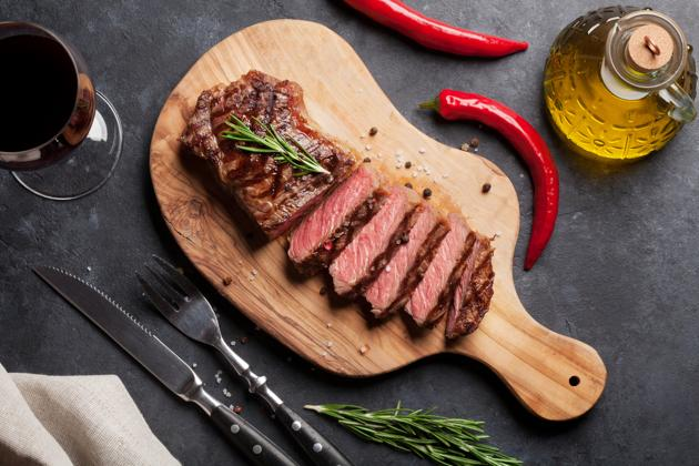 The study showed that those regularly eating red meat compared to a red meat-free diet had higher rates of distal colon cancer .(Shutterstock)