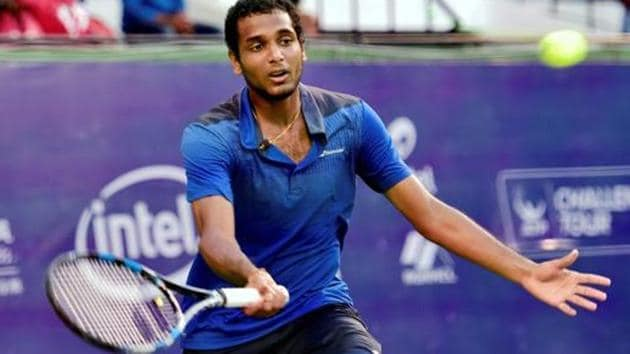 Ramkumar Ramanathan had recently reached the quarterfinals of the Euro 43,000 Marbella Challenger in Spain.(PTI)