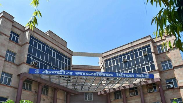 A view of CBSE headquarters at Patparganj in East Delhi on Friday.(PTI)