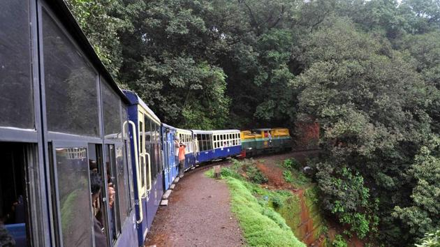After being shut for a year owing to derailments, the Neral-Matheran stretch was re-opened last year.(HT File)
