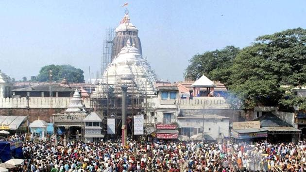 The Ratna Bhandar in the Jagannath temple has two chambers -- the 'Bhitar bhandar' (inner treasury) and 'Bahar bhandar' (Outer treasury). Currently, the outer treasury is being used for various rituals.(PTI File Photo)