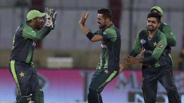 Pakistan thrashed West Indies by 143 runs in the first of three T20s in Karachi on Sunday.(AP)