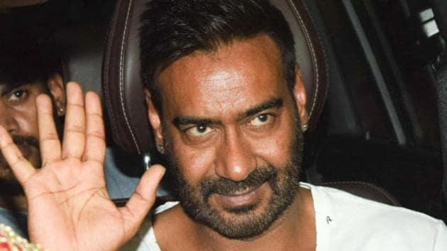 Actor Ajay Devgn at the screening of his film Raid in Mumbai.(IANS)