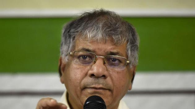 Bharipa Bahujan Maha Sangh president Prakash Ambedkar.(Anshuman Poyrekar/HT Photo)
