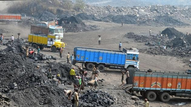 Coal India's output rose 9% from a year earlier to 72.3 million tons of coal in March, while shipments rose 5.5% to 55.2 million tons.(Bijay/Hindustan Times)