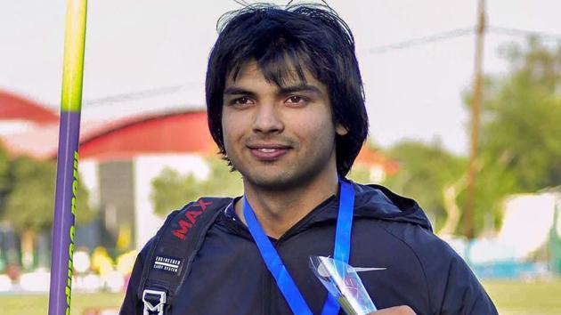 Neeraj Chopra, world junior javelin champ's season best makes him medal favourite(PTI)