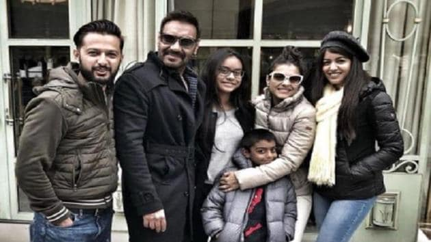 Ajay Devgn celebrated his 49th birthday with Kajol and children Nysa and Yug in Paris.