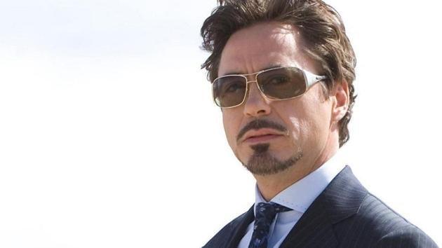 Robert Downey Jr as Tony Stark in the first Iron Man movie.