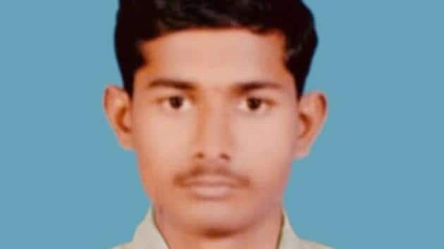 Sepoy Mustapure Shubham Suryakant was grievously injured in the exchange and later succumbed to his injuries.(HT Photo)