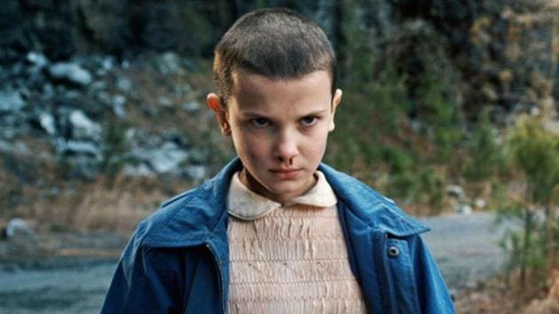 Millie Bobby Brown as Eleven in Stranger Things.(NETFLIX)