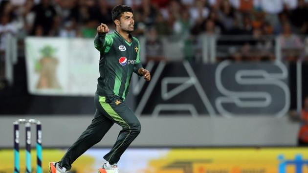 Shahdab Khan had figures of 2-23 in the second T20 match against West Indies(Twitter (ICC))