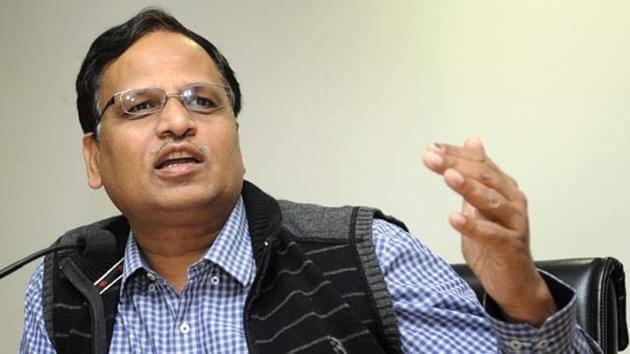 File photo of Delhi health and power minister Satyendar Jain.(HT Photo)