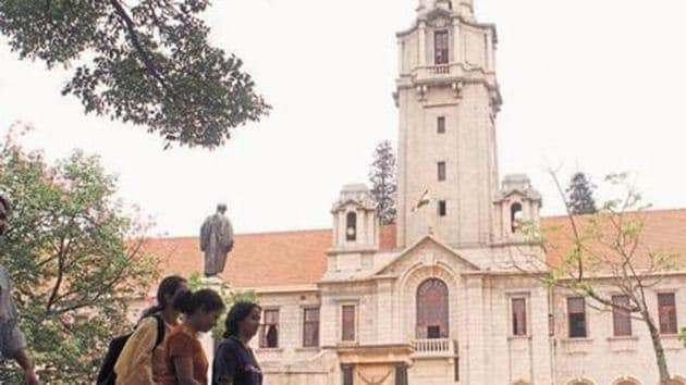 Indian Institute of Science (IISC), Bangalore topped the overall rankings and also secured the top position in the best university category in the India Rankings 2018(HT File Photo)