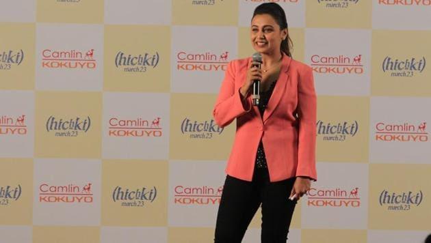 Rani Mukerji at the Hichki Teachers Awards in Mumbai on Feb 24, 2018.(IANS)