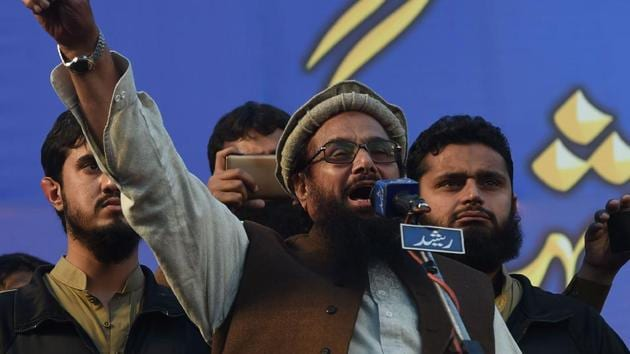 Founder of Lashkar-e-Taiba Hafiz Saeed (centre) launched the Milli Muslim League (MML) in 2017 and has said that it will fight the elections in 2018.(AFP File Photo)