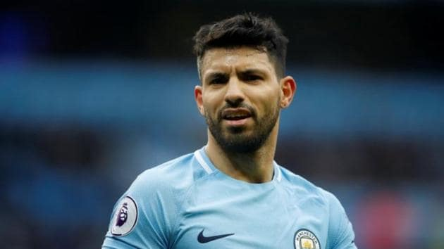 Sergio Aguero has 199 goals for Manchester City in all competitions.(Reuters)