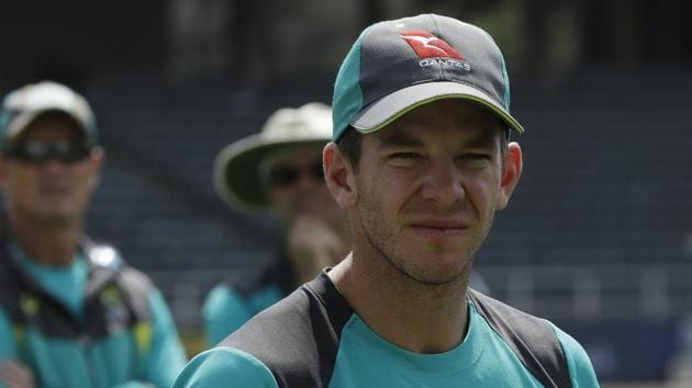Tim Paine took over as Australia captain after Steve Smith was sent home following his role in the ball tampering row.(AP)