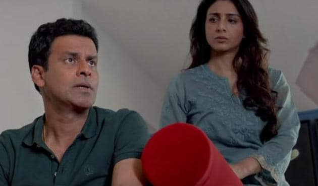 Tabu and Manoj Bajpayee in a still from Missing.