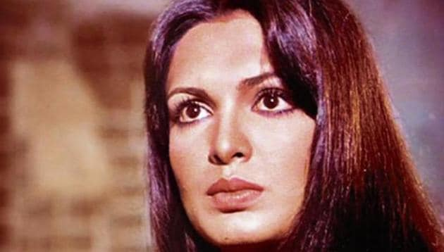 Parveen Babi, alongwith Zeenat Aman, was among the top-billed actresses of the 1970s.(HT Photo)