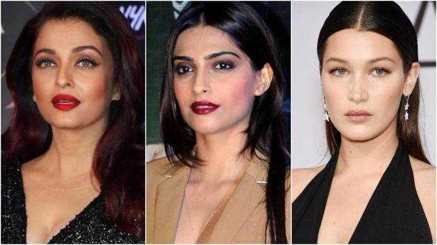 Actors Aishwarya Rai Bachchan and Sonam Kapoor and model Bella Hadid have been spotted in very similar Dior looks. (File PTI and AFP Photos)