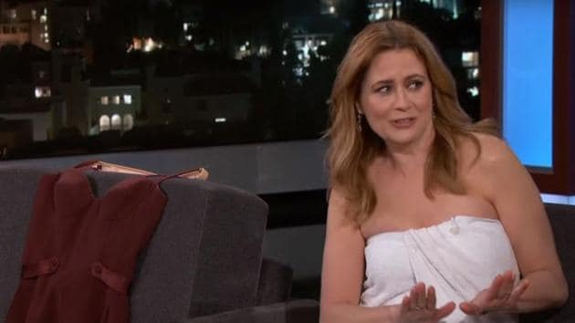Jenna Fischer was physically comfortable but not mentally.(YouTube)