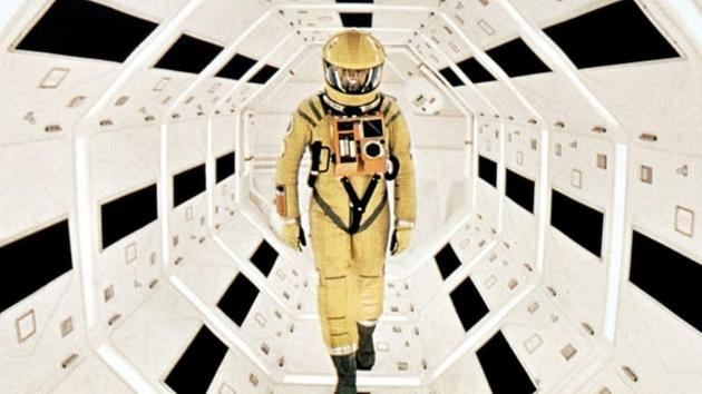 This image released by Warner Bros. Pictures shows Keir Dullea in a scene from the 1968 film, 2001: A Space Odyssey.